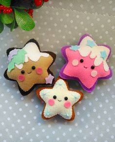 Sewing Toys Felt Gingerbread cookie pattern Christmas ornaments Gingerbread star felt pattern PDF Gingerbread star sewing pattern for Christmas tree toy - Easy Sewing Patterns, Felt Patterns, Stuffed Toys Patterns, Sewing Toys, Sewing Crafts, Sewing Projects, Sewing Tutorials, Christmas Tree Toy, Felt Christmas Ornaments