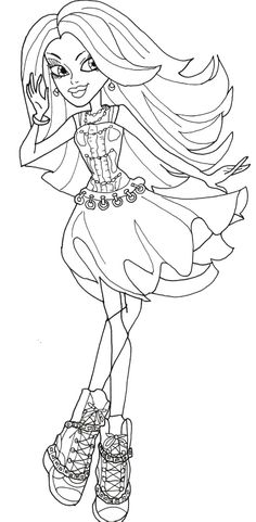baby spectra monster high coloring pages   1000+ images about Coloring Pages. on Pinterest   Monster ...