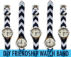 Such a clever idea! A friendship bracelet band for your watch.