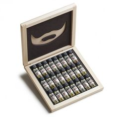 A perfect gift for the well-groomed bearded man, this set includes the entire 24 scents of The Bearded Man Company Beard Oil. Wooden Gift Boxes, Wooden Gifts, Design Shop, Presents For Men, Gifts For Dad, Men Gifts, Best Beard Oil, Beard Grooming Kits, Bay Rum