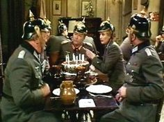 Enjoy the pictures from the famous BBC comedy and your memories will come back. Bbc, Comedy Tv Shows, The Best Series Ever, British Comedy, National Treasure, Dad's Army, Rule Britannia, Entertaining, Film