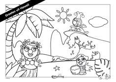 Efteling Kleurplaat Jokie Groeten uit Hawaii