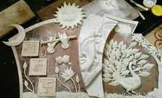 Trendy Ideas For Garden Design Drawing Painted Rocks Clay Wall Art, Clay Art, Name Plate Design, Canvas Art Projects, Plaster Art, Diwali Craft, Paper Mache Crafts, Mural Art, Murals
