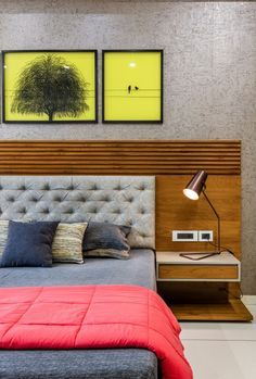 Residence Accentuating Spaces in Frames and Cubes & 3 Square Design & The Architects Diary The post Residence Accentuating Spaces in Frames and Cubes Bedroom Bed Design, Bedroom Furniture Design, Modern Bedroom Design, Home Decor Furniture, Bedroom Decor, Bed Headboard Design, Bedroom Lamps, Apartment Interior, Room Interior