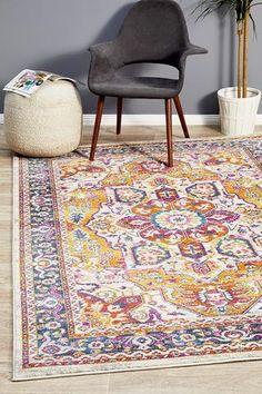 Seda Vintage Look Multi Rug Melbourne, Sydney, Machine Made Rugs, Transitional Rugs, Modern Colors, Small Rugs, Modern Rugs, Floor Rugs, Traditional Design