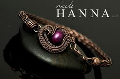 Purple Pearl Viking Knit Bracelet from Nicole Hanna Jewelry
