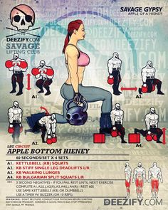Apple Bottoms DOUBLE TAP & TAG A SAVAGE - It's #LegDay A little repost of a leg circuit for da ladies, though tough enough for the bros - just go heavier. The more you train legs without a machine the stronger you'll get your legs but also your...
