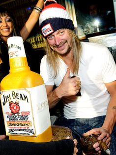 Kid Rock and his sweet Jim Beam cake...could be an idea for a groom's cake or a birthday party?