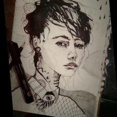 #drawing #Art #dibujo #arte #illustration #ilustracion #woman #face #blackandwhite #blancoynegro