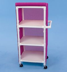 """Three Shelf Cart, 24"""" x 20"""" Shelves  --why am I not building more things out of PVC?"""