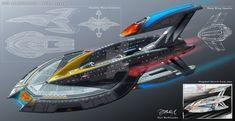 The Cosmic Rift by charmedy on DeviantArt Star Trek Enterprise Ship, Star Trek Starships, New Star Trek, Star Wars, Spaceship Art, Spaceship Design, Concept Ships, Concept Cars, Star Trek Insignia