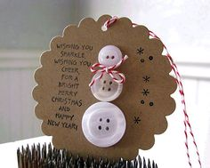 Cute button snowman