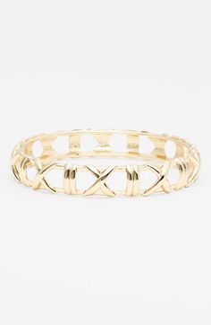 Reminds me of the Tiffany Atlas collection: Gold cutout bangle via @Nordstrom