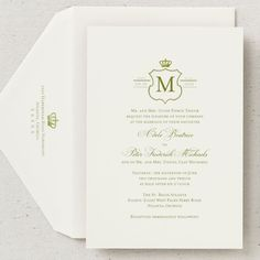 bridescom royal wedding invitations this thermography printed invitation suite features a