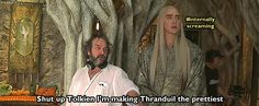 — bellevox: Really. That's why I love PJ. Orlando Bloom Legolas, Elven Costume, Lee Pace Thranduil, Lotr Elves, Forever Book, Father And Son, Middle Earth, Lord Of The Rings, Tolkien