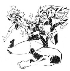 Haruko and Pandi by Rafchu.deviantart.com on @deviantART