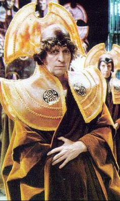 The Fourth Doctor in Time Lord regalia
