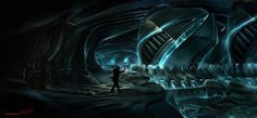 Prequal to 1982 Alien ship by Falarsimons