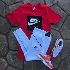 Nike www. Dope Outfits For Guys, Swag Outfits Men, Cute Lazy Outfits, Tomboy Outfits, Teen Fashion Outfits, Cool Outfits, Nike Outfits For Men, Fashion Shirts, Mens Fashion