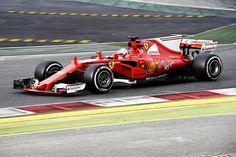 170015-test-barcelona-sebastian-vettel Ferrari F1, Lamborghini Aventador, Gp Formula, Barcelona, F1 2017, Shark Fin, Motor, Board, Race Cars