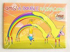Adventure Time OMG! A Double Rainacorn Magnet @ niftywarehouse.com #NiftyWarehouse #AdventureTime #TVShow #Cartoon #Show #CartoonNetwork