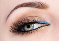 Krok za krokom: Zvodné hnedo-žlto-modré líčenie - KAMzaKRÁSOU.sk #kamzakrasou #sexi #love #make-up #dyi #diy #make-up #tutorials #eyes #eyes-tutorials #beauty #cosmetics #eyes-shadow #maskara #licenie #liner
