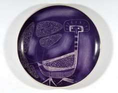 1958 - 1968 'Patera with a Bird' by Henryk Baran for Porcelain Factory in Pruszkowie, Glass Design, Design Art, Acid Trip, Pablo Picasso, Warsaw, National Museum, Mid Century Design, Pottery Art, Poland