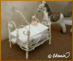 wire frame doll bed  (in finnish) with detailed step-by-step pix