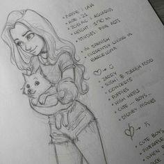 Dibujo y descripcion de Laia