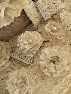 Shabby Chic Inspired crafting #flower