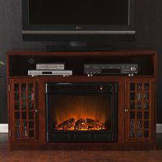 "Wildon Home ® Bismark 48"" TV Stand with Electric Fireplace 