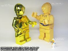 The builds are done, so I hope to be able to put the templates and instructions for my papercraft LEGO Star Wars C-3PO minifigs on my papercraft webpage soon! ;o) http://ninjatoes.blogspot.com/2014/06/papercraft-lego-star-wars-c-3po-minifig_20.html