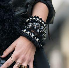 Knitted Bracelet SG 01 STREET GLAMOUR Set of by Vladilenashandmade, $33.00