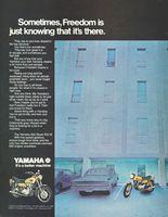 Yamaha 650 Street XS1-B 1971 Ad Picture