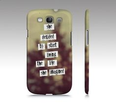 """Samsung Galaxy S3 Covers - iPhone 5,4,4s Case """"Her Life"""""""