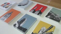 Great posts cards of London landmarks designed by Bronagh Kennedy