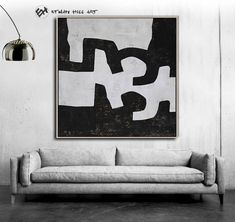 Black and White Canvas Art Abstract Painting Textured image 4 White Canvas Art, Black And White Canvas, Abstract Animals, Abstract Art, Frame Store, Minimalist Painting, Mid Century Modern Art, Wall Art Sets, Texture Painting