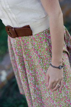 Love! Shirt, belt, skirt.