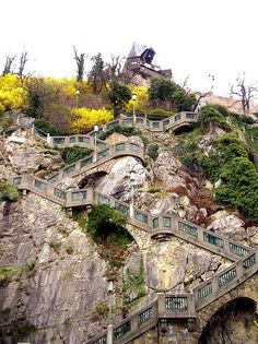 Steps up to #Schlossberg. #Graz, Austria   photo by Alberto De Marco