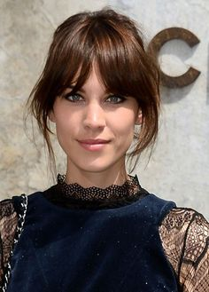These kind of bangs are kind of what my bangs are.