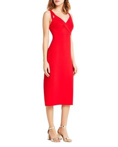 BCBGeneration Double Strap Midi Dress