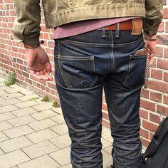 0b6db2ddac7c 3sixteen ST-140x Selvedge Jeans Indigo x Brown Raw 17oz