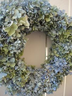 Hydrangea Wreath Dried Hydrangea Wreath Summer by donnahubbard, $55.00
