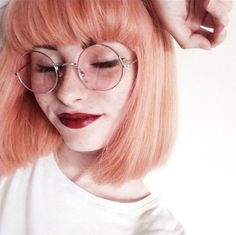 Peach hair is having a serious moment. These drop-dead gorgeous peach hair color looks will have you running to your colorist. Dye My Hair, Your Hair, Pastel Pink Hair, Short Pastel Hair, Peachy Hair Color, Short Dyed Hair, Hair Colour, Coloured Hair, Colored Hair Tumblr