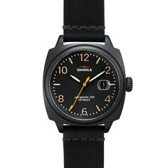 Shinola Mens Brakeman Chronograph Watch with Leather Strap, Black Fossil Watches For Men, Cool Watches, Black Watches, Stylish Watches, Men's Watches, Fashion Watches, Men Fashion, Style Fashion, Jewelry Watches