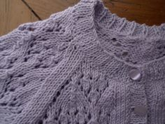 PENTAPOLÍN: Blue lace sweater 100% cotton 12 months baby girl