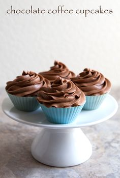 chocolate coffee cupcakes This recipe has European measurements but surely I can find the conversion somewhere. I think this would be worth it!