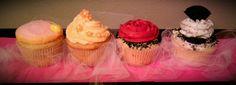 Pink Lemonade Cupcake, Orange Blossom Cupcake, Pink Champagne Cupcake & Cookies & Cream Cupcake