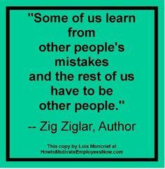 Zig ziglar quote on mistakes