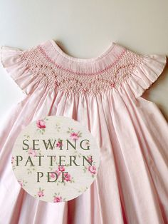 Etsy Pattern and instructions for sweet smocking dress.The English Smocking Pool